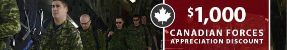 $1000 Canadian Forces Appreciation GM Discount