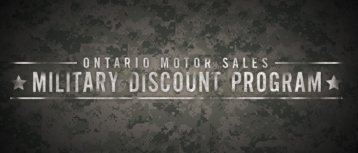 Ontario Motor Sales Military Discount Program