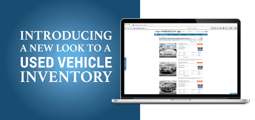 Introducing a new look to a used vehicle inventory