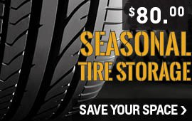 Seasonal Tire storage 80 dollars