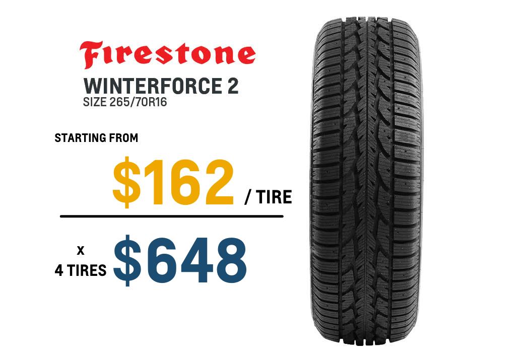 Firestone winter tire deal