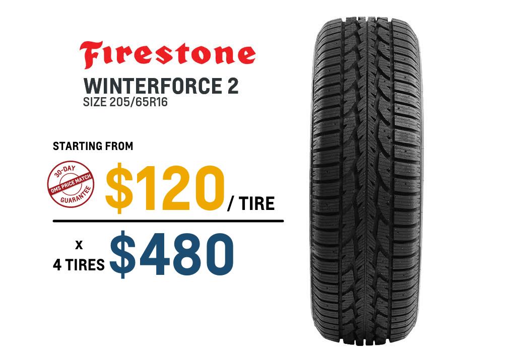 Firestone winter tire deal Malibu