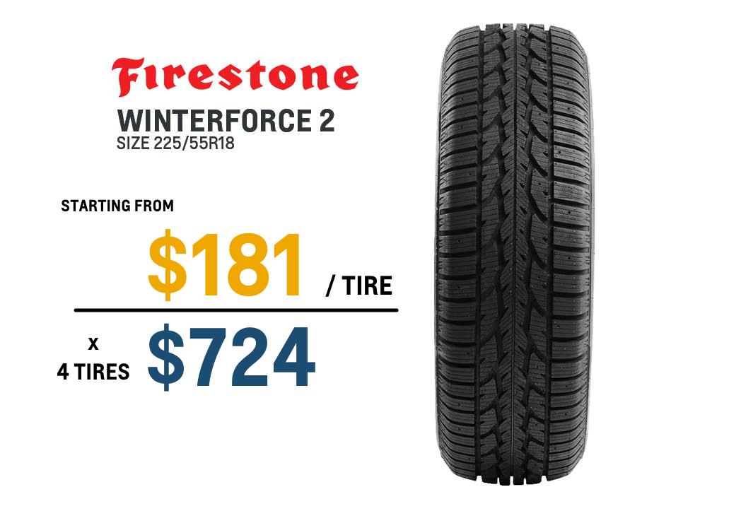 Trailblazer winter tires Firestone