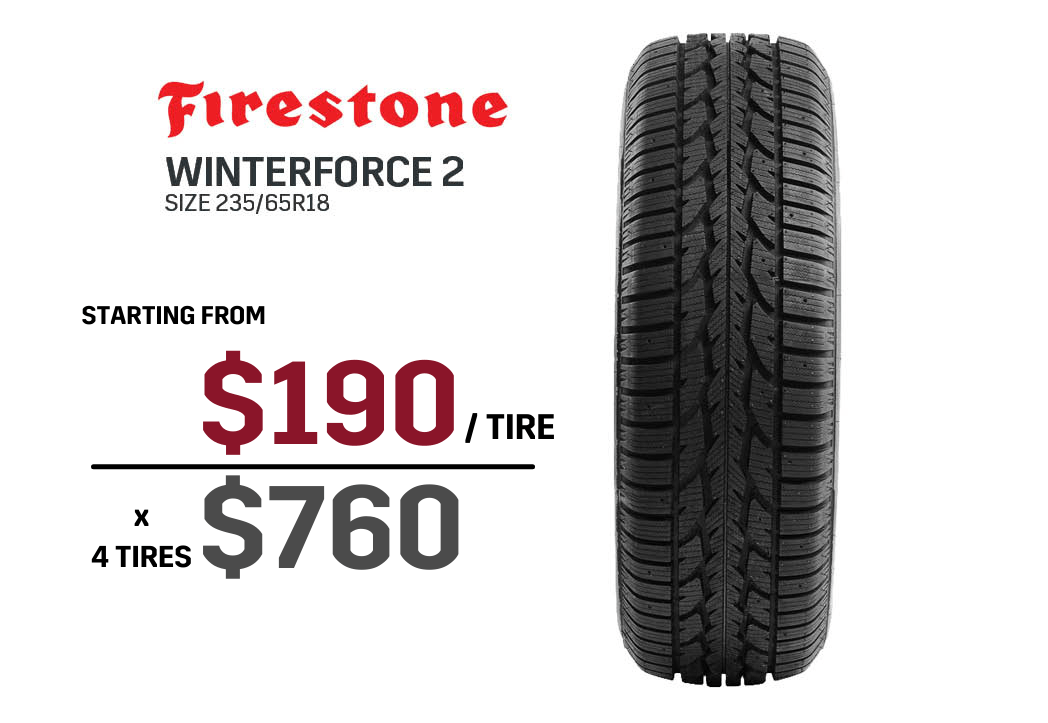 Firestone winter tire deals