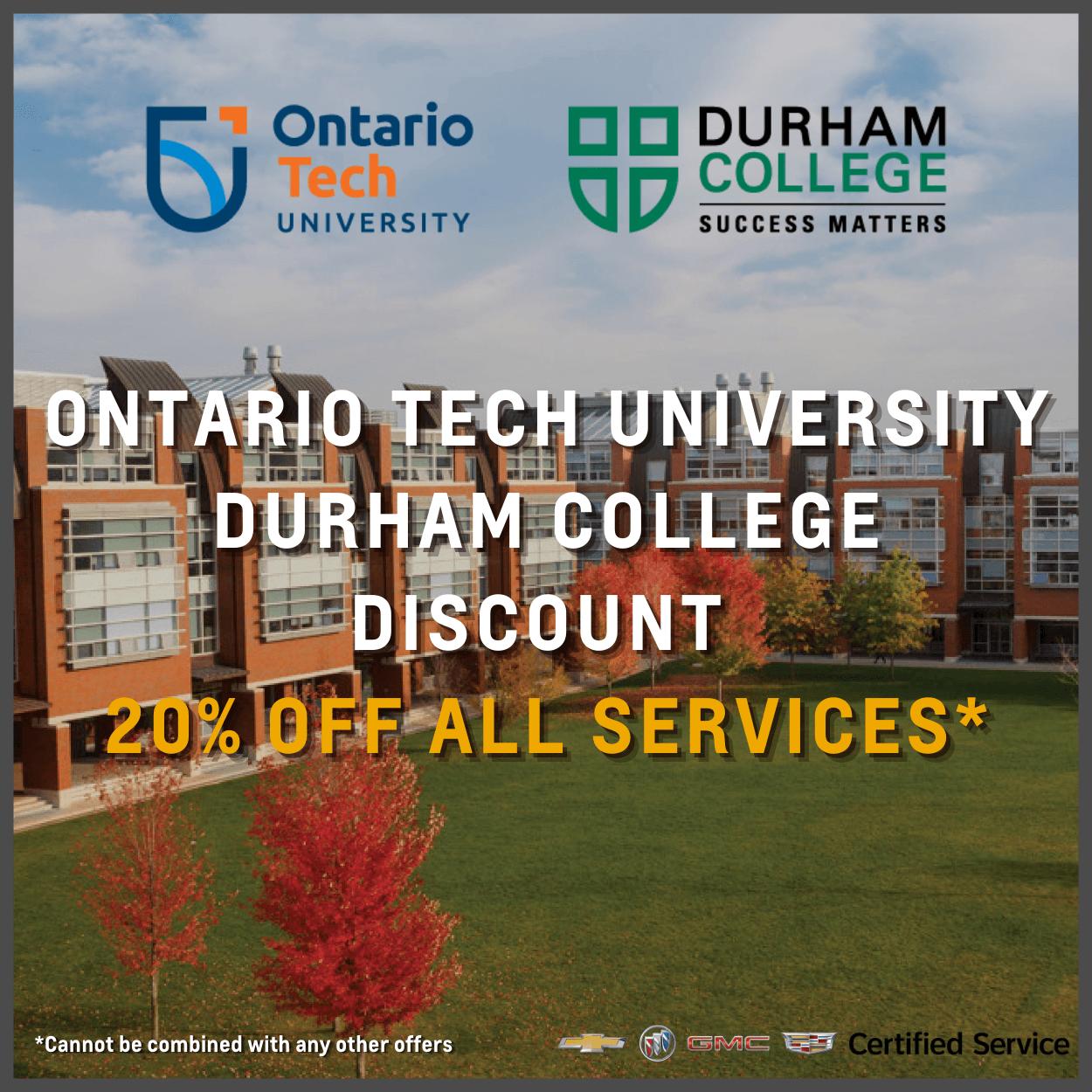 Student service discounts Oshawa