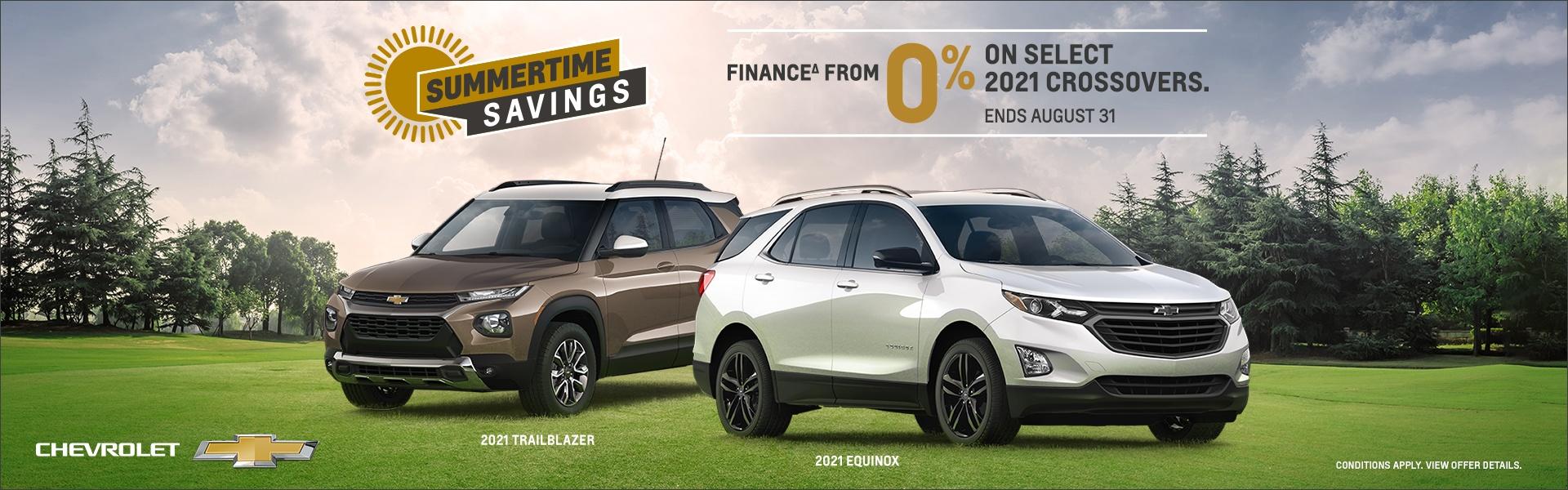 August Chevrolet deals on SUV's Oshawa