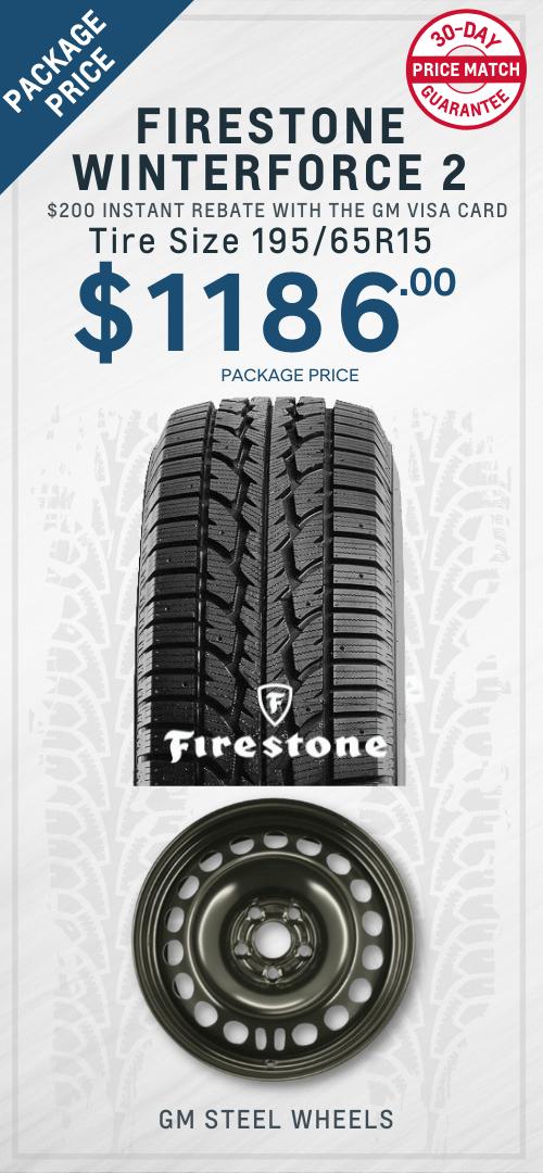 Cruze Firestone Winter tires Oshawa
