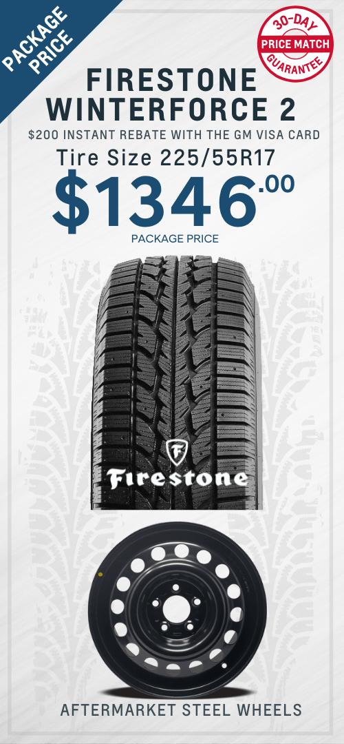 Malibu Firestone Winter Tires Oshawa