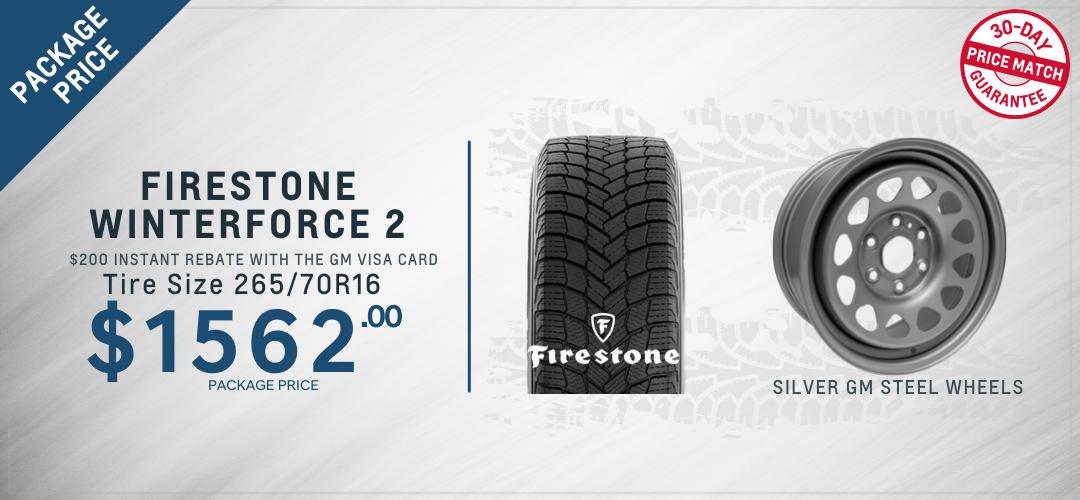 Colorado Firestone winter tires Oshawa